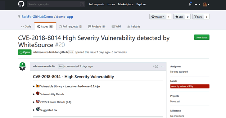 Free Open Source Vulnerability Management App for Developers