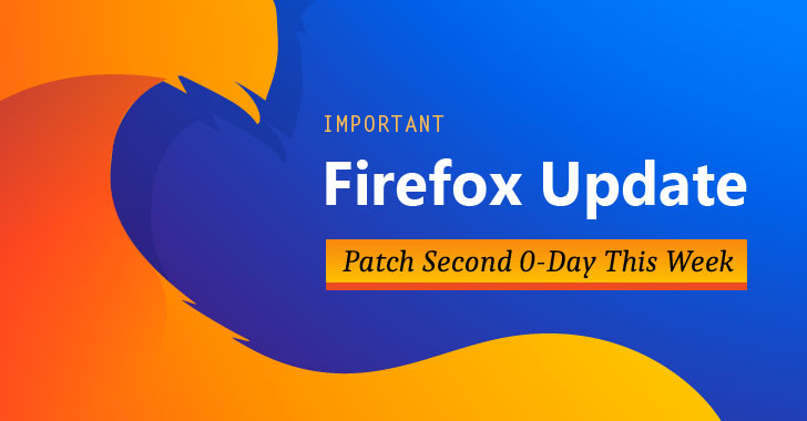 Firefox 67 0 4 Released — Mozilla Patches Second 0-Day Flaw